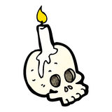 Cartoon skull candle Royalty Free Stock Photo