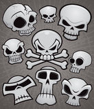 Cartoon Skull Collection. A collection of vector cartoon skulls in various styles vector illustration