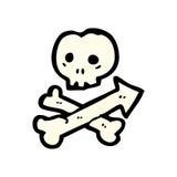 cartoon skull and crossbones arrow symbol Royalty Free Stock Images