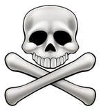 Cartoon Skull and Crossbones Jolly Roger Stock Photos