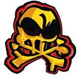 Cartoon skull design Royalty Free Stock Image