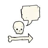 Cartoon skull direction sign Royalty Free Stock Photos