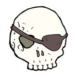 Cartoon skull with eye patch Royalty Free Stock Photo