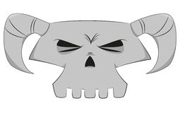 Cartoon skull Stock Images