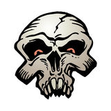 Cartoon skull illustration Royalty Free Stock Images