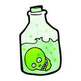 Cartoon skull in jar Stock Images