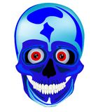 Cartoon skull of the person Stock Images