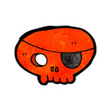 Cartoon skull with pirate eye patch Royalty Free Stock Photo