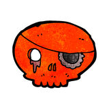 Cartoon skull with pirate eye patch Royalty Free Stock Photos