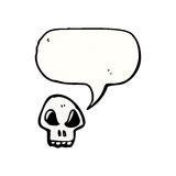 Cartoon skull with speech bubble Stock Photo