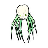Cartoon skull spider Royalty Free Stock Photo