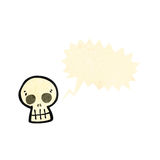 Cartoon skull symbol with speech bubble Stock Images