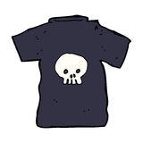Cartoon skull tee Stock Photos