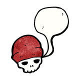 cartoon skull wearing hat Stock Photography