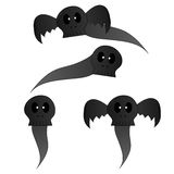 Cartoon skull with wings is Spirit Royalty Free Stock Photos