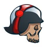Cartoon Skull in a World War Two Helmet. Stock Photos