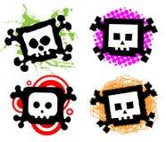 Cartoon skulls Royalty Free Stock Photo
