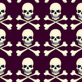 Cartoon skulls seamless vector pattern Royalty Free Stock Image