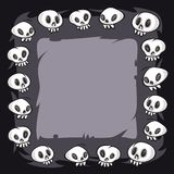 Cartoon Skulls Square Frame Stock Photos