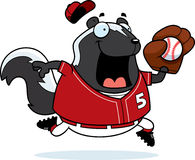 Cartoon Skunk Baseball Stock Photos