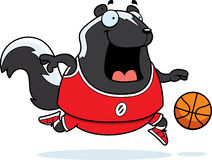 Cartoon Skunk Basketball Stock Photo