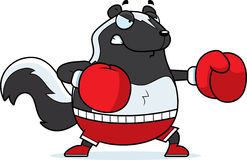 Cartoon Skunk Boxing Royalty Free Stock Photo