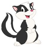 Cartoon Skunk. Isolated object for design element Stock Images