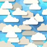 Cartoon sky. Royalty Free Stock Image