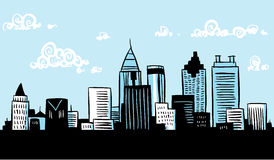 Cartoon Atlanta Stock Image