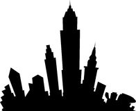 Cartoon Skyline Stock Images