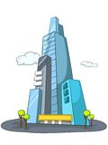 Cartoon Skyscraper Royalty Free Stock Photography