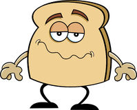 Cartoon slice of bread Royalty Free Stock Photography