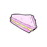 Cartoon slice of cake Royalty Free Stock Photography