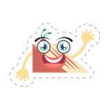 cartoon slice cake sweet cut line Royalty Free Stock Images