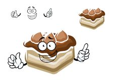 Cartoon slice of chocolate cake Royalty Free Stock Photos