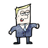 cartoon slick businessman Royalty Free Stock Photo