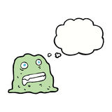 Cartoon slime creature with thought bubble Stock Photography