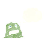 Cartoon slime creature with thought bubble Stock Photo