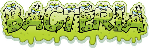 Free Cartoon Slimy Bacteria Text Stock Photos - 51089883