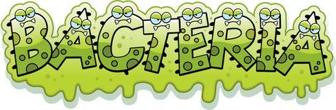 Cartoon Slimy Bacteria Text Stock Photos
