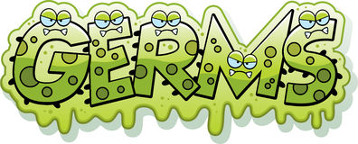 Cartoon Slimy Germs Text Stock Images