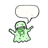 Cartoon slimy ghost Royalty Free Stock Photo
