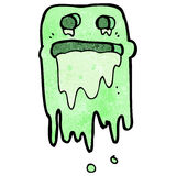Cartoon slimy ghost Royalty Free Stock Images