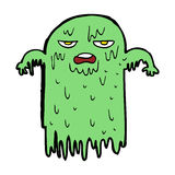 Cartoon slimy ghost Stock Image