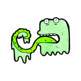 Cartoon slimy ghost Royalty Free Stock Image