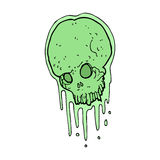 Cartoon slimy skull Stock Photo