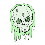 Cartoon slimy skull Stock Image
