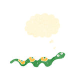 Cartoon slithering snake Royalty Free Stock Photography