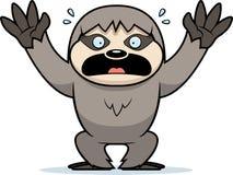 Cartoon Sloth Panicking. A cartoon illustration of a sloth panicking Stock Image