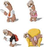 Cartoon sloths Stock Photos